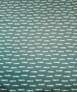 petrol green classic cars cotton poplin