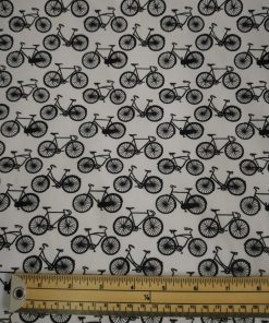 black and white bikes cotton poplin