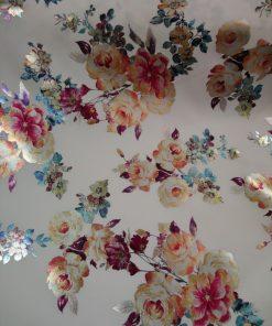 floral foil print scuba