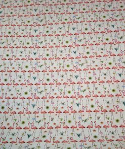 flamingo print cotton