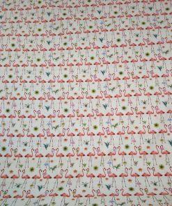 flamingo print cotton