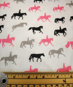 john louden dressage balck white and pink horses