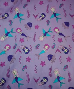 purple mermaid cotton