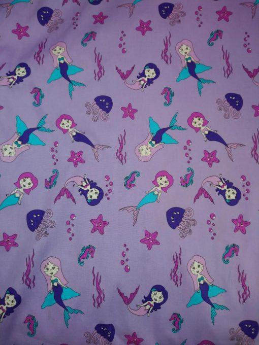purple mermaid cotton