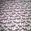 cotton black and white zebra print