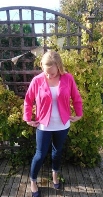 New Look K6351 multi garment pattern review pink ponte roma