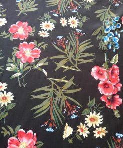 black floral viscose